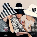 Girl Talk Giclée Print on Canvas