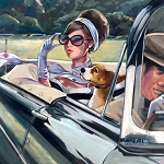 Joy Ride Giclée Print on Canvas