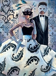 Masquerade Ball Giclée Print on Canvas