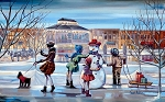 Southlake Snowman Giclée Print on Canvas