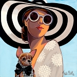 Big Hat Sass Giclée Print on Canvas