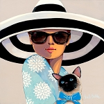 Big Hat Moon Giclée Print on Canvas
