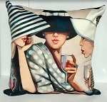 Girl Talk Pillow