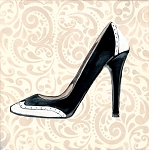 High Heel BW Spike Giclée Print on Canvas