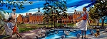 Campus & Theta Pond Combined Giclée Print on Canvas