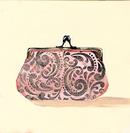 Purse Pink Glitter Giclée Print on Canvas