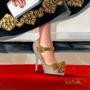 Purse Shoe All that Glitters Giclée Print on Canvas