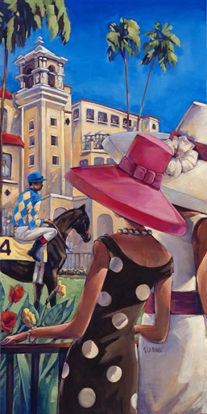 Del Mar Thorouhbred Club Giclée Print on Canvas