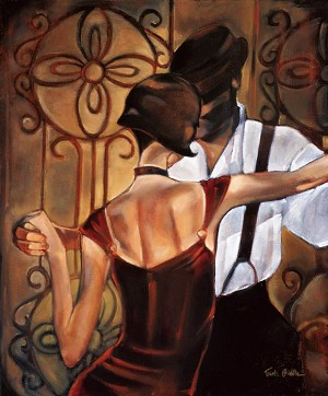 Evening Tango Giclée Print on Canvas