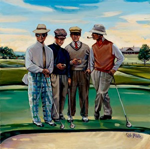 Guys Golf Giclée Print on Canvas
