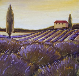 Provence Lavender 3 Giclée Print on Canvas