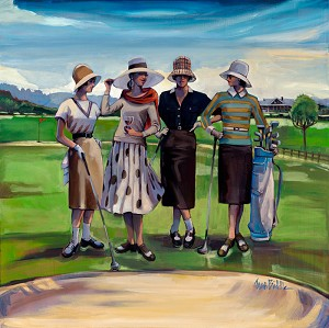 Tee Time Giclée Print on Canvas