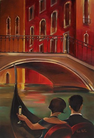 Venice Bridge Giclée Print on Canvas