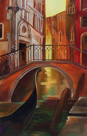 Venice Water Giclée Print on Canvas